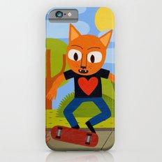 Skateboarding Cat Slim Case iPhone 6s