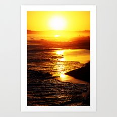 Sunset Algarve Art Print