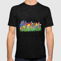 Flowery Bouquet Mens Fitted Tee Tri-Black SMALL