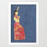 Belly dancer 5 Art Print