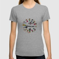 Dancing Circle Deejay Womens Fitted Tee Athletic Grey SMALL
