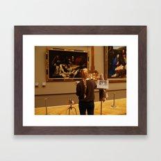 The painter Framed Art Print