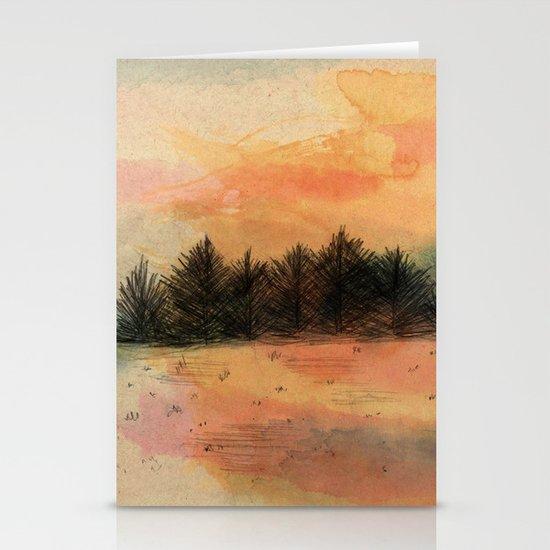 Horizonte distante Stationery Card