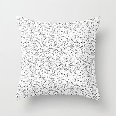 Speckles I: Double Black on White Throw Pillow