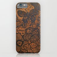 Flowers And Butterflies iPhone 6 Slim Case