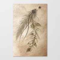 Bohemian Feather Canvas Print