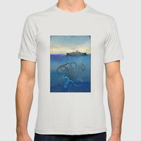 Sea Monster Mens Fitted Tee Silver SMALL