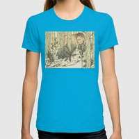 Judgement Womens Fitted Tee Teal SMALL