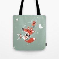 Space Fox Tote Bag