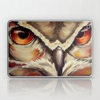Owl - Acrylic painting - Red, orange and yellow Laptop & iPad Skin