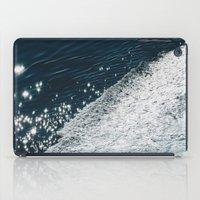sea - midnight blue silk iPad Case