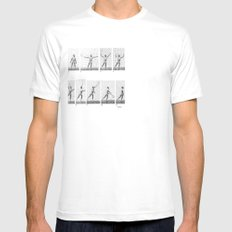 monday White Mens Fitted Tee SMALL