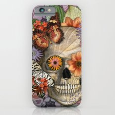 Butterfly Botaniskull - Floral Sugar Skull Art iPhone 6 Slim Case