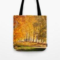 Gold Autumn Tote Bag