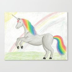 Rainbow Unicorn Canvas Print