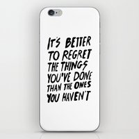 #NOREGRETS iPhone & iPod Skin