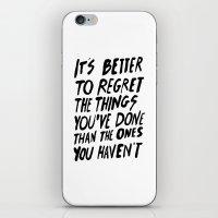 #NOREGRETS iPhone & iPod Skin