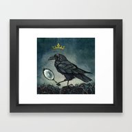 Framed Art Print featuring Raven King by Beesants