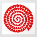 Patt2 RED HEARTS Art Print