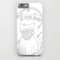 cats with beards iPhone 6 Slim Case