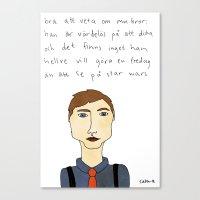 Bra Att Veta Om Min Bror Canvas Print