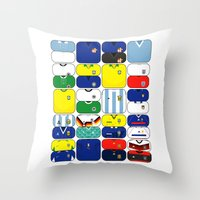 World In Motion III Throw Pillow