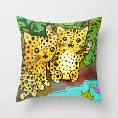 Boat Race Throw Pillow