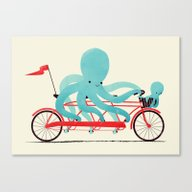 Canvas Print featuring My Red Bike by Jay Fleck