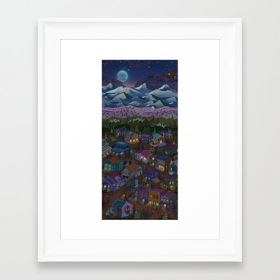 A Town on the Edge of Adventure Framed Art Print