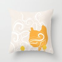 Chick poster Throw Pillow