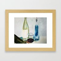 Red Wine Framed Art Print