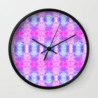 Pyschedelic Space Wall Clock