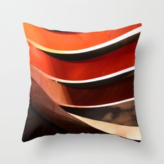 Ornage Curves Throw Pillow