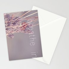 breathe in Stationery Cards