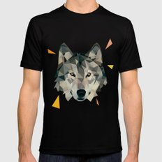 wolf Mens Fitted Tee Black SMALL
