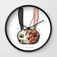 Visible Floating BunnyHe… Wall Clock