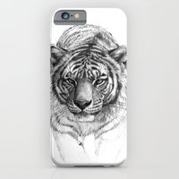 iPhone & iPod Case featuring Tiger SK0102 by S-Schukina