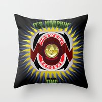 It's Morphin' Time - Gre… Throw Pillow