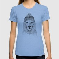 Winter Is Coming Womens Fitted Tee Tri-Blue MEDIUM