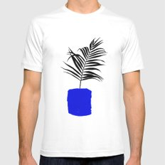 Blue Pot SMALL Mens Fitted Tee White
