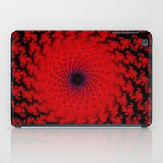 Red Space Spiral Fractal  iPad Case