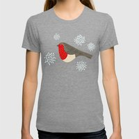 Robin Womens Fitted Tee Tri-Grey SMALL