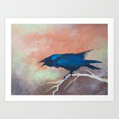 Crow Scream Art Print