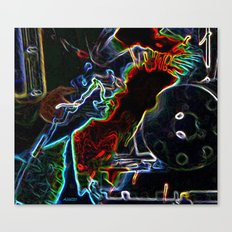 Arced Neon Canvas Print