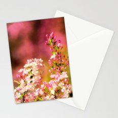 Pretty and Pink crab apple blossoms Stationery Cards