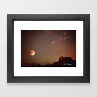 Sedona Blood Moon Eclips… Framed Art Print