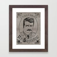 Constantly Ron Swansoning Framed Art Print