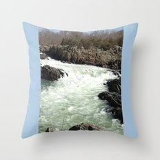 Great Falls National Park Throw Pillow