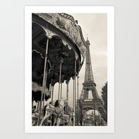 J'adore Paris Art Print