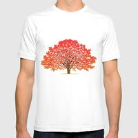 Japanese Maple 1 Mens Fitted Tee White SMALL